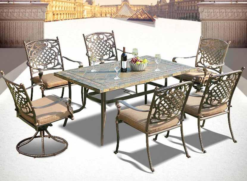 铸铝桌椅批发、北京铸铝沙发厂家、铁网桌椅定制