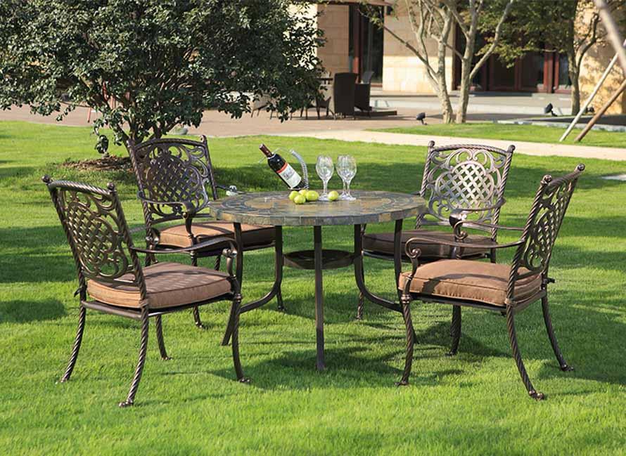 高档收米直播官网在线家具、欧式铸铝家具、收米直播官网在线欧式铸铝桌椅、园林室外桌椅、别墅休闲家具