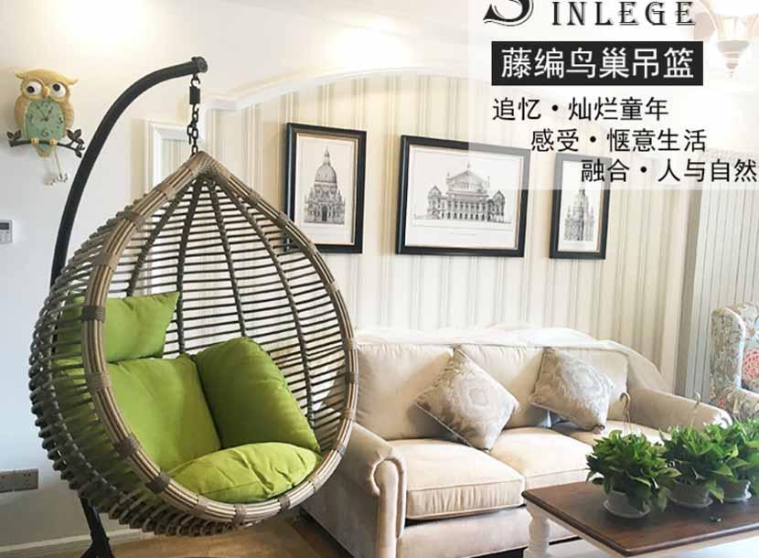 编藤沙发厂家、编藤桌椅定制、休闲吊篮批发